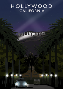 Hollywood Art Print (Night)