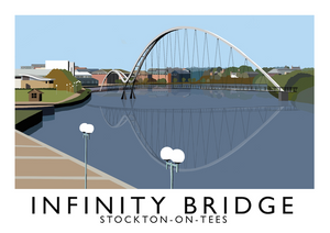 Infinity Bridge, Stockton-on-Tees Art Print