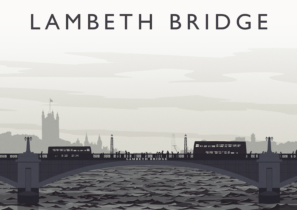 Lambeth Bridge Art Print