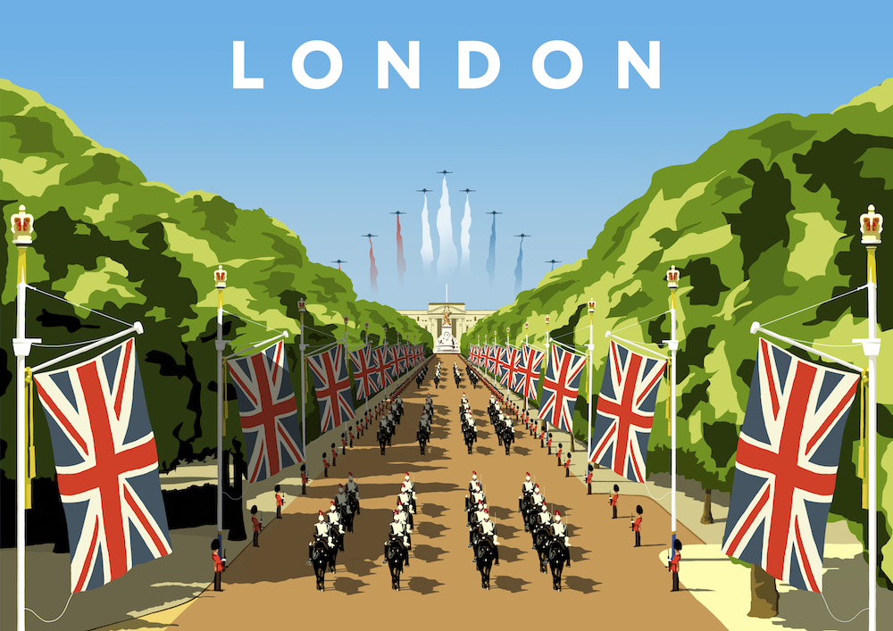 London (Trooping the Colour) Art Print