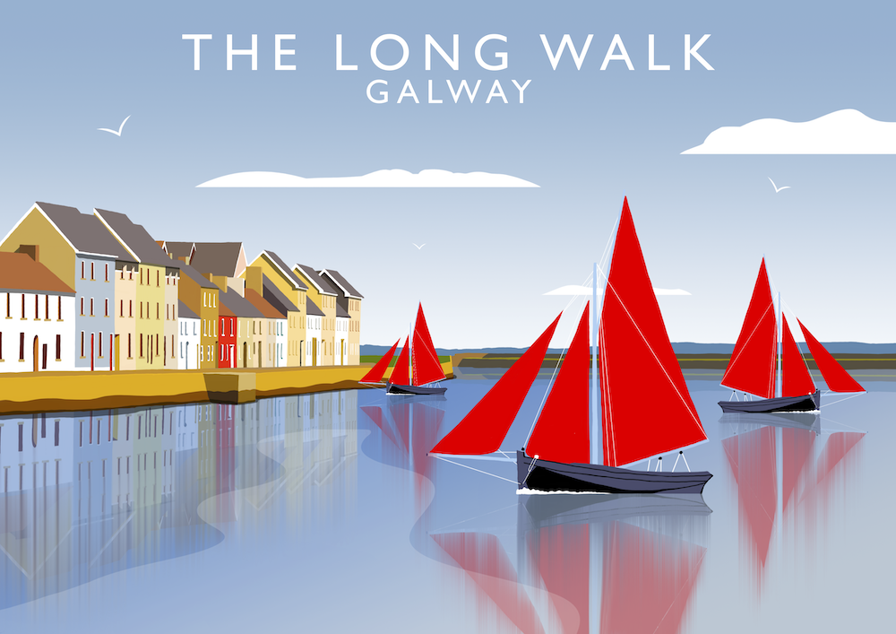 The Long Walk, Galway Art Print