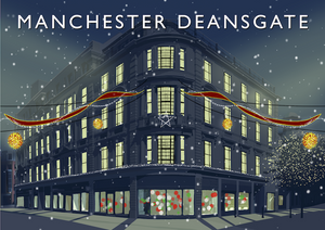 Christmas at Manchester Deansgate Art Print