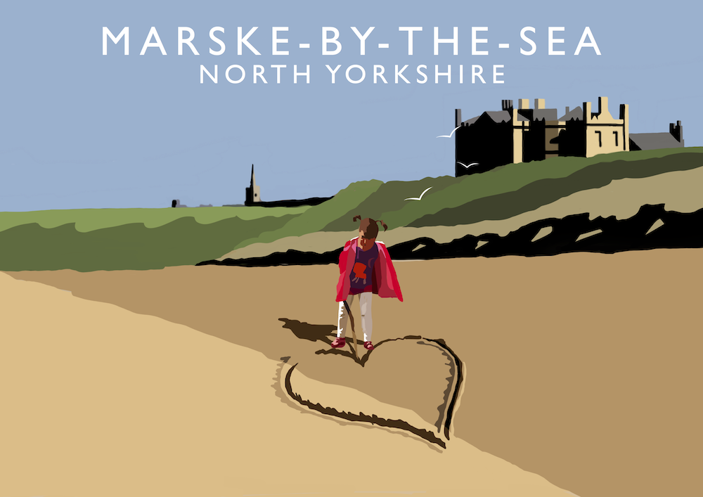 Marske-by-the-Sea Art Print