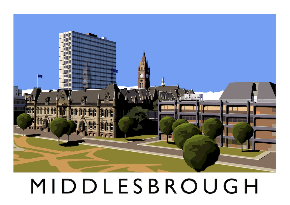 Middlesbrough Art Print