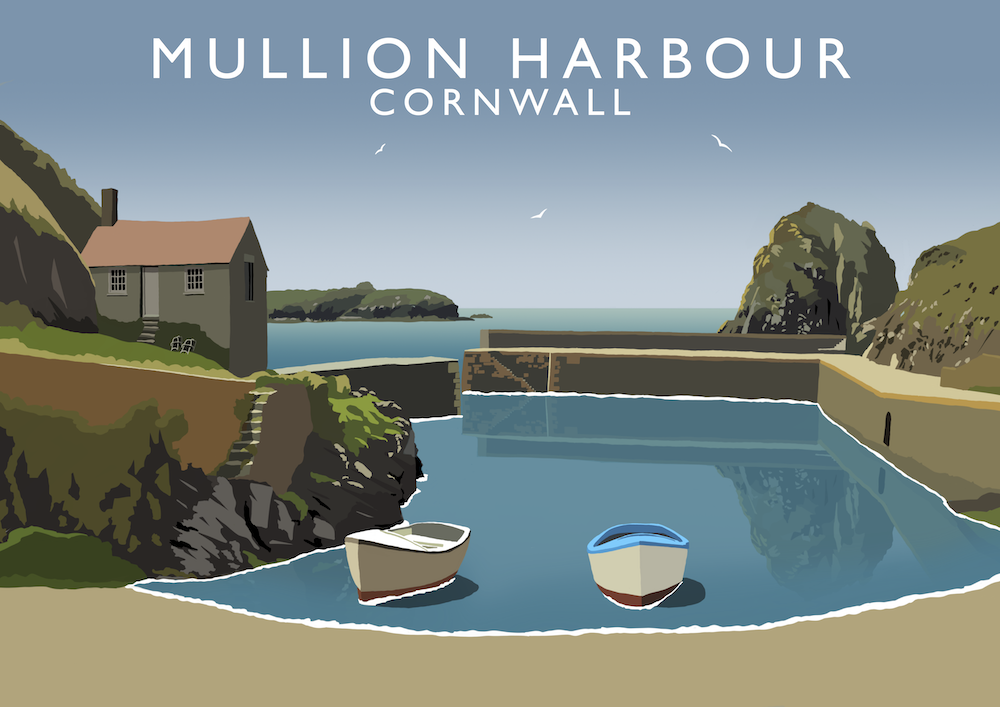Mullion Harbour Art Print