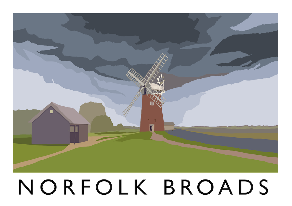 Norfolk Broads Art Print