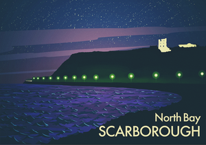 North Bay, Scarborough (Night) Art Print