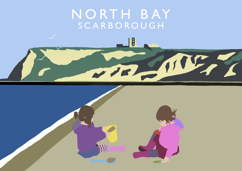 North Bay, Scarborough Art Print