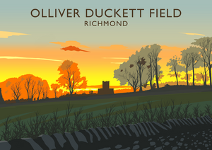 Olliver Duckett Field, Richmond Art Print