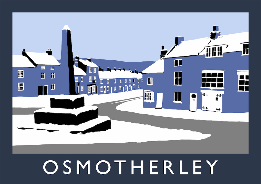 Osmotherley Art Print (Snow)