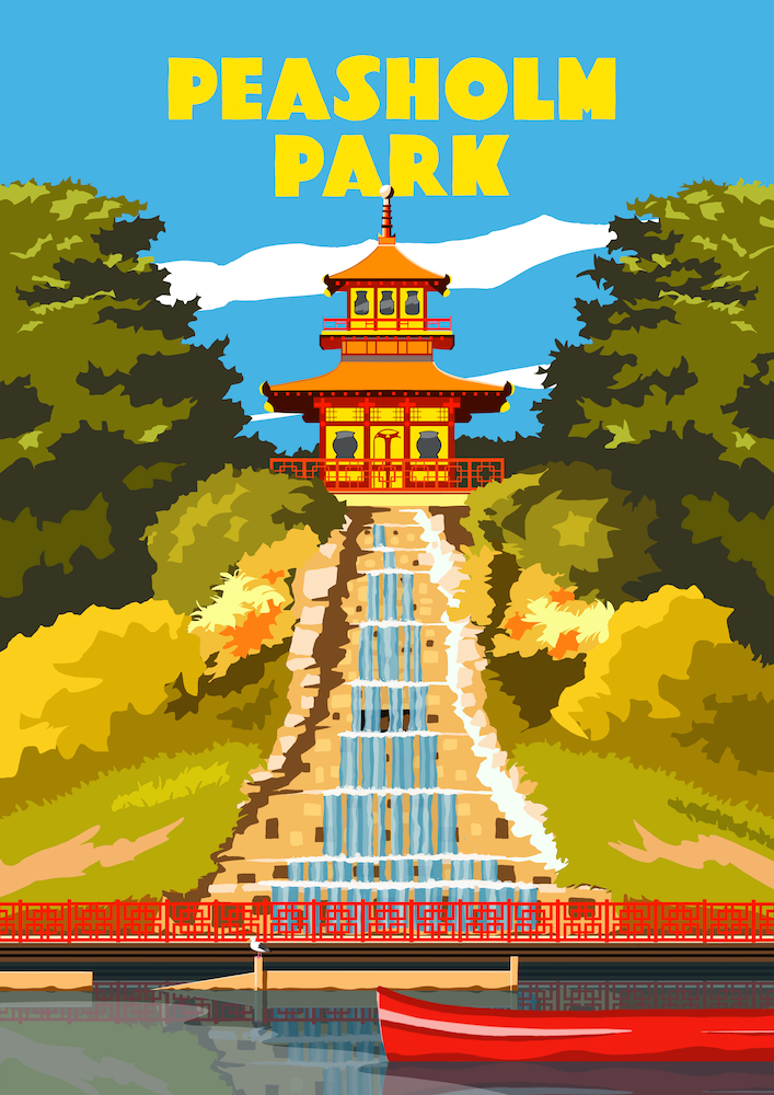 Peasholm Park, Scarborough Art Print