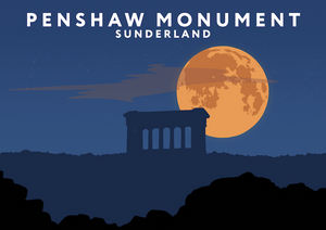 Penshaw Monument Art Print (Night)