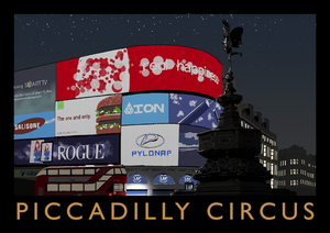 Piccadilly Circus Art Print (Night)