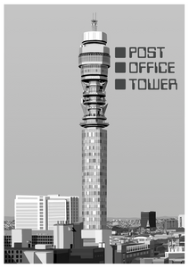 Post Office Tower Art Print