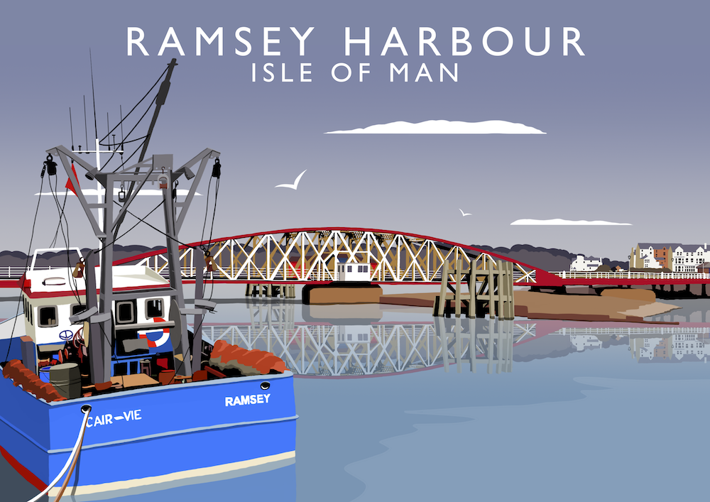 Ramsey Harbour Art Print