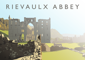 Rievaulx Abbey Art Print