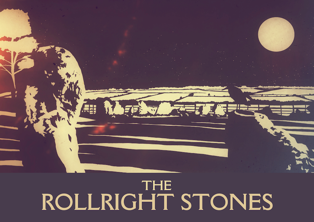 Rollright Stones Art Print (Night)