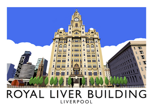Royal Liver Building, Liverpool Art Print