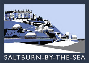 Saltburn-by-the-Sea Art Print (Snow)