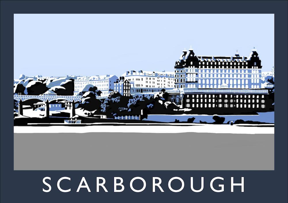 Scarborough Art Print (Snow)