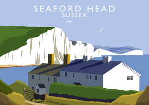 Seaford Head Art Print