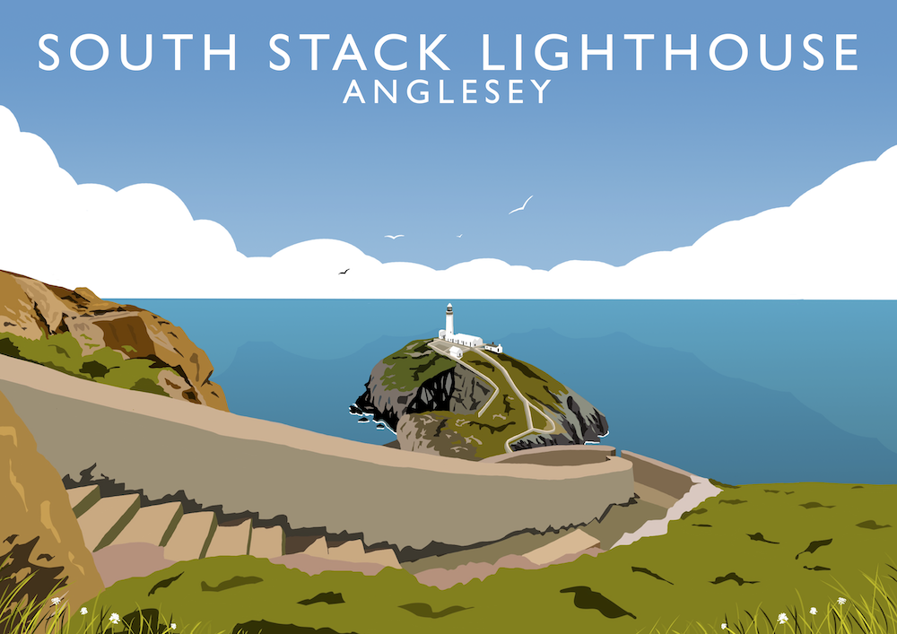 South Stack Lighthouse Art Print