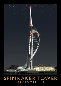 Spinnaker Tower Art Print (Night)