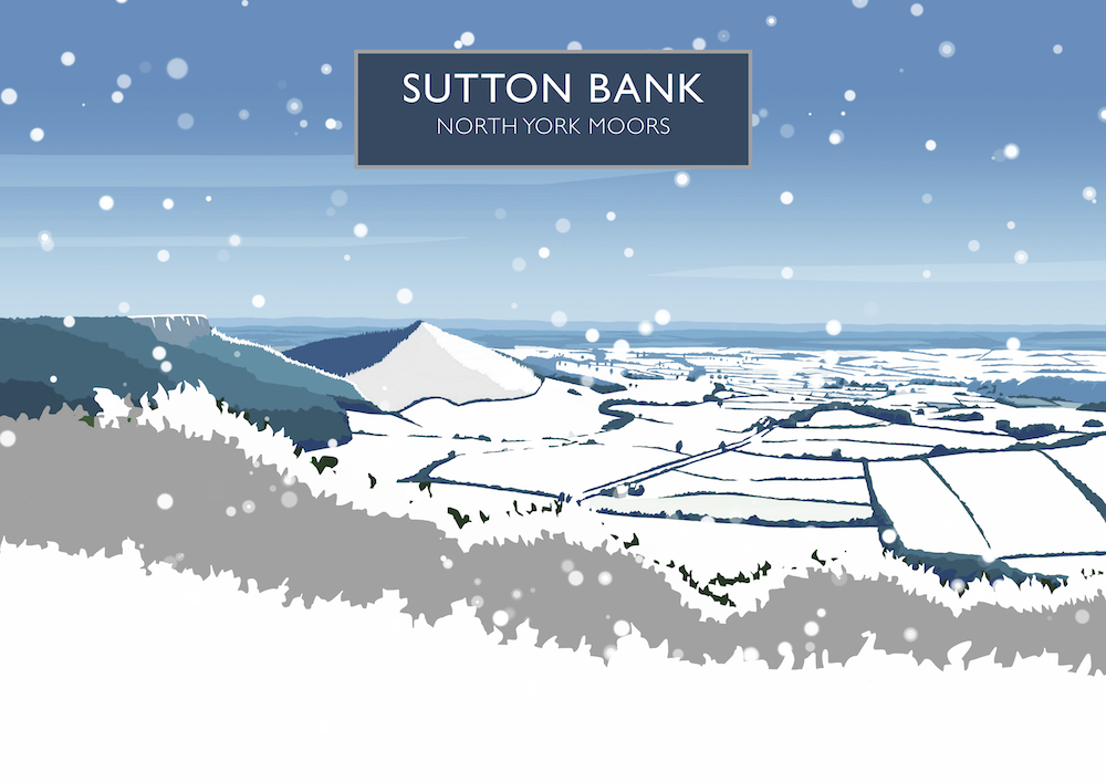 Sutton Bank Art Print