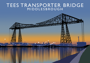 Tees Transporter Bridge Art Print (Dusk)