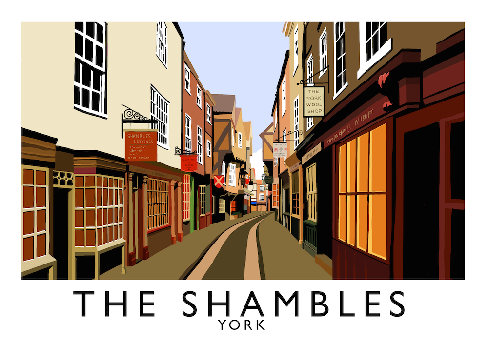 The Shambles, York Art Print