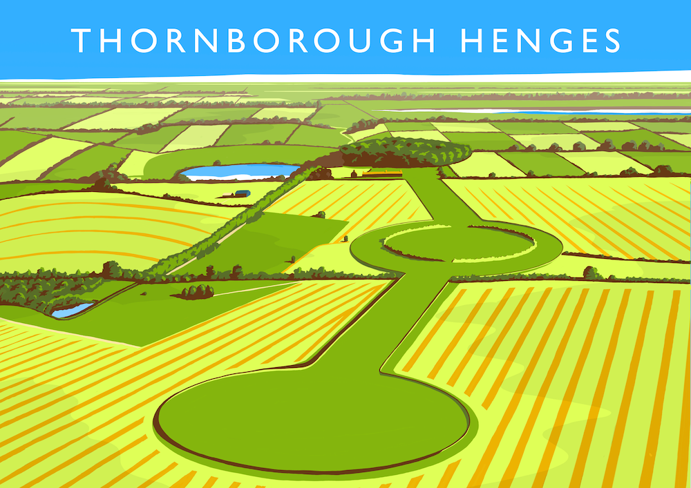 Thornborough Henges Art Print