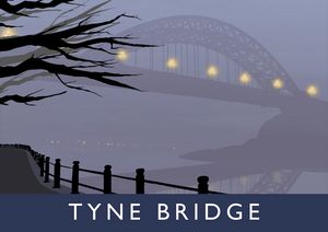 Tyne Bridge Art Print (Fog)