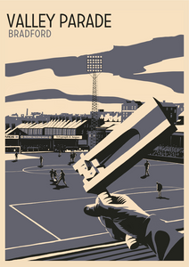 Valley Parade, Bradford Art Print