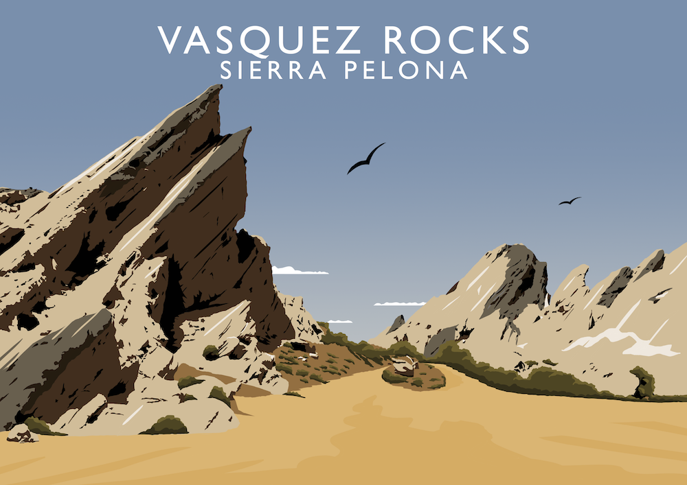 Vasquez Rocks Art Print