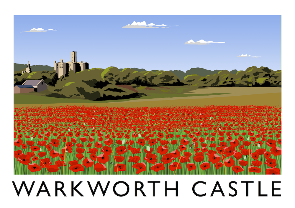 Warkworth Castle Art Print