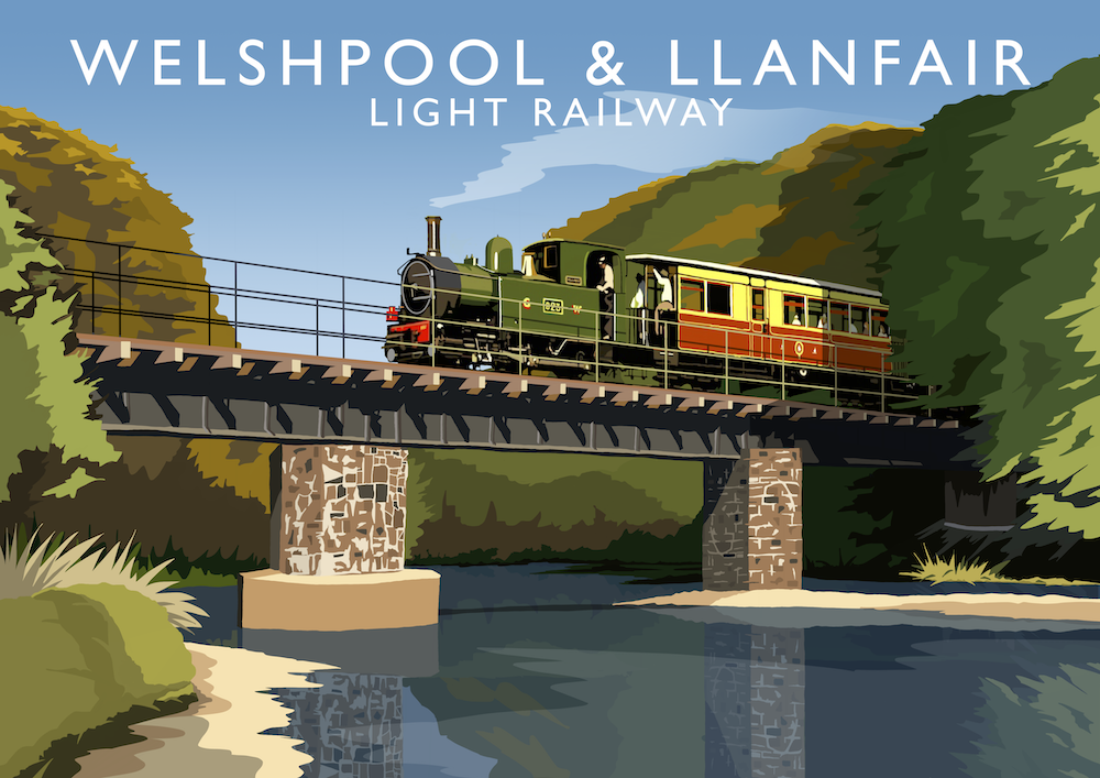 Welshpool & Llanfair Light Railway Art Print