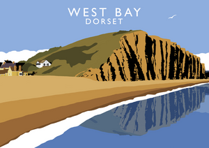 West Bay, Dorset Art Print