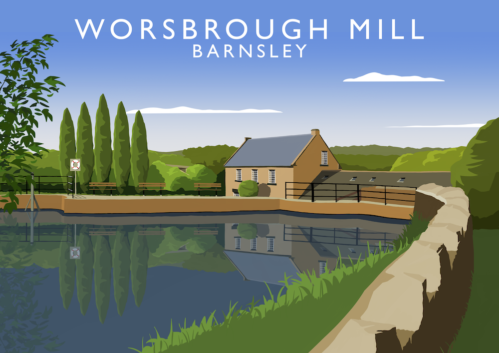 Worsbrough Mill Art Print