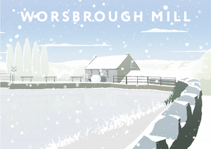 Worsbrough Mill Art Print (Snow)