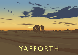 Yafforth Sunset Art Print