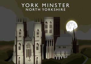 York Minster Art Print (Night)