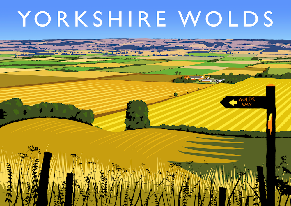 Yorkshire Wolds Art Print