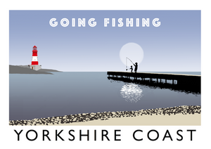 Yorkshire Coast - Going Fishing Art Print