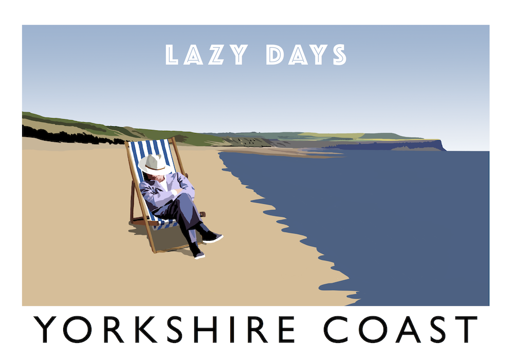 Yorkshire Coast - Lazy Days Art Print