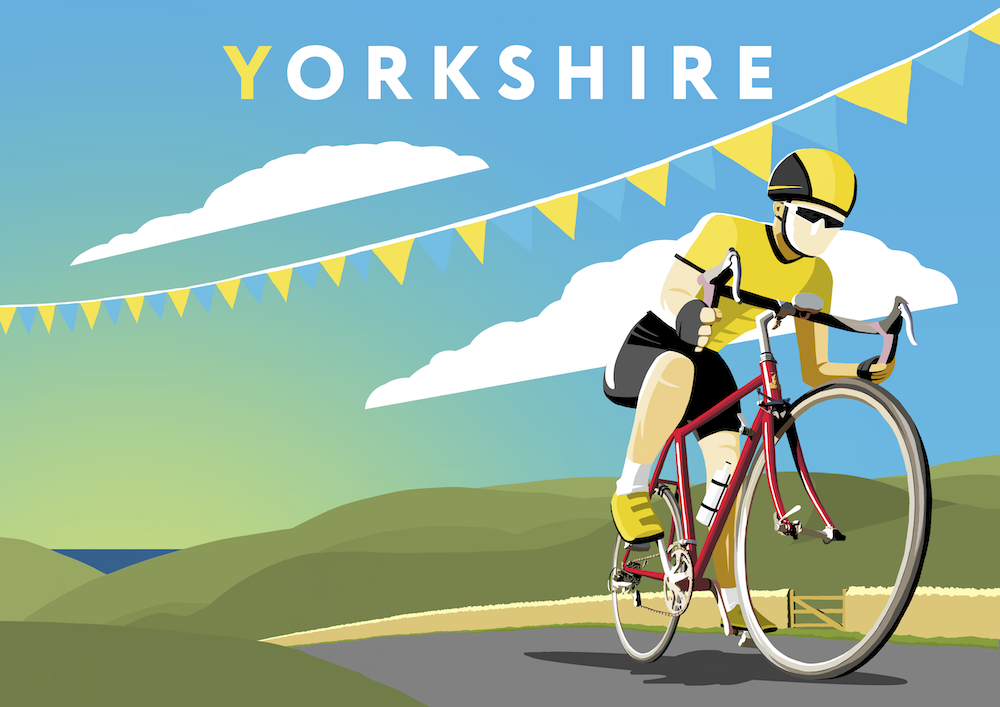 Yorkshire Cycling 2019 variant 2 Art Print