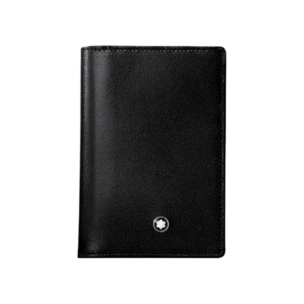 Meisterstück Business Card Holder with Gusset Black
