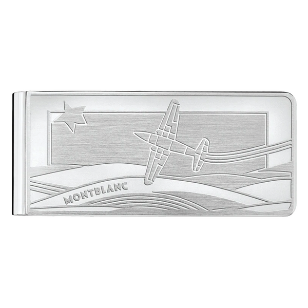 Montblanc Le Petit Prince money clip with aeroplane engraving