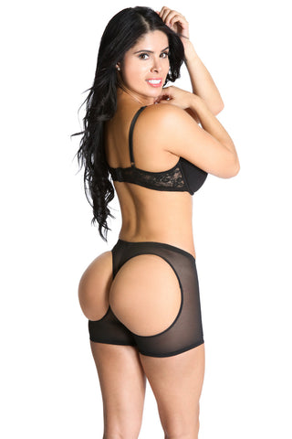 Smok69 Smok69 Sculpting Shapewear Butt Lifting Boy Shorts Black  - 1