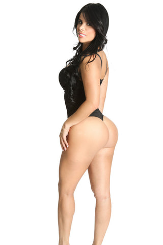 Shapex High Waist Thong Back Full Body Shaper Available in Black - Shapex - 1