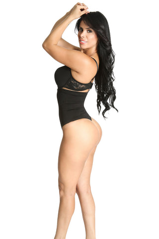 Smok69 Smok69 High Waist Thong Back Full Body Shaper Available in Black  - 1